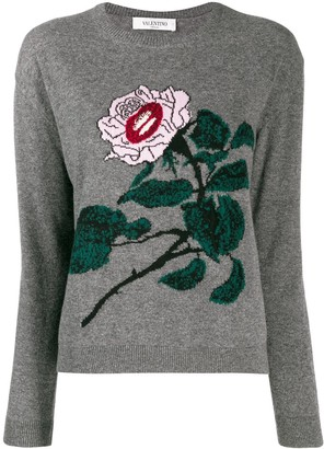 Valentino embroidered knitted sweater