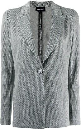 Giorgio Armani Chevron-Pattern Blazer