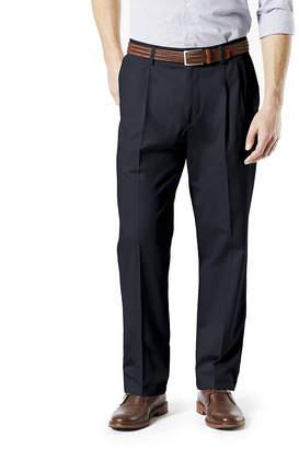 Dockers Classic Fit Signature Khaki Lux Cotton Stretch Pants - Pleated D3