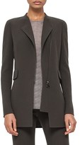 Akris Women's Asymmetrical Zip Double Face Wool Crepe Jacket