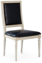 One Kings Lane Exeter Side Chair - Navy Leather