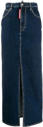 DSQUARED2 Long Pencil Denim Skirt