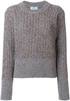 Prada glitter effect rib knitted sweater