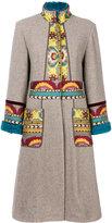 Etro embroidered cardi-coat