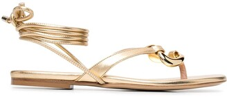 Gia Couture Metallic-Finish Sandals