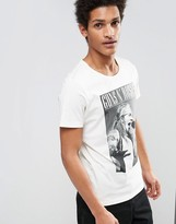 Selected T-shirt with Guns and Roses Print