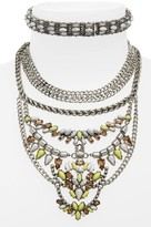 BaubleBar Women's Xenia Choker Bib Necklace