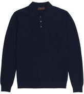 Altea Check virgin wool polo sweater