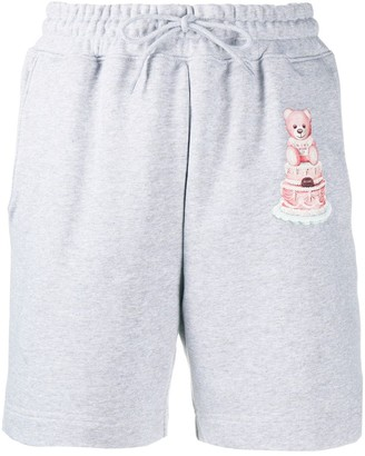 Moschino Cake Teddy Bear print drawstring shorts
