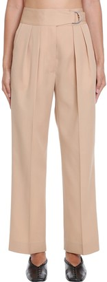 Jil Sander Napoleon Pants In Brown Wool