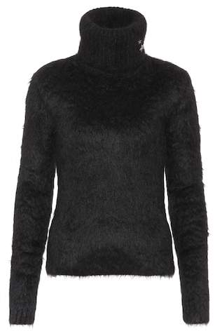 Saint Laurent Mohair and wool-blend turtleneck sweater
