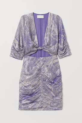 H&M Fitted silk-blend dress
