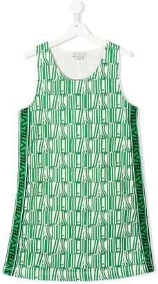 Stella Mccartney Kids TEEN Stella type-print dress