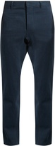 Fanmail Hemp and cotton-blend drill straight-leg trousers
