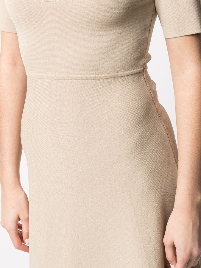 Thumbnail for your product : P.A.R.O.S.H. V-neck polo shirt dress