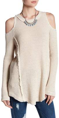 Elan International Cold Shoulder Sweater