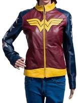 The Custom Jacket Wonder Woman Jacket - Diana Prince Leather Amazons Princess Gal Gadot Costume (L, )