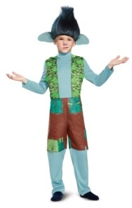 BuySeasons Trolls Branch Deluxe Little and Big Boys Costume With Wig