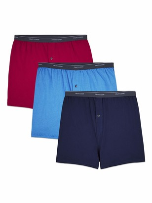 Fruit of the Loom Men's Big Man Knit Boxers (Pack of 3) Assorted Solids 2XB