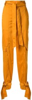 Manning Cartell high-waisted tie cuff trousers
