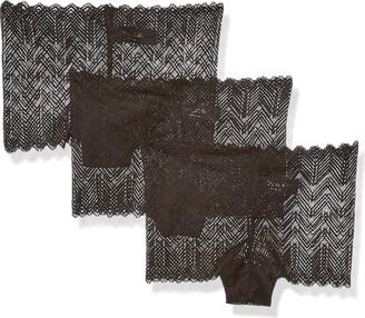 Mae Amazon Brand Women's Lace Boyshort 3 Pack