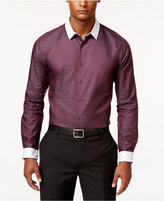 INC International Concepts Men's Chambray Contrast-Trim Long-Sleeve Shirt, Only at Macy's