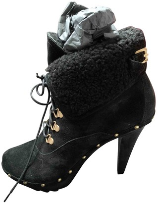 DSQUARED2 Black Suede Ankle boots
