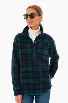 Vineyard Vines Blackwatch Sherpa Snap-Placket Pullover