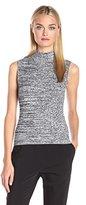Theory Women's Everleen P Marl Knit Sleeveless Turtleneck Sweater