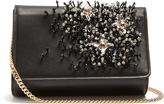 Lanvin Crystal-embellished leather clutch