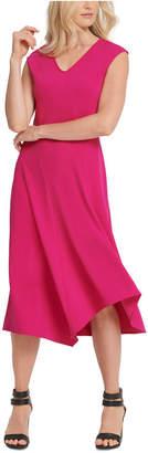 DKNY V-Neck Midi Dress