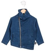 Nununu Girls' Asymmetrical Zip-Up Jacket