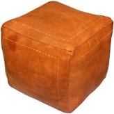 Bungalow Rose Mouassine Pouf Leather Ottoman