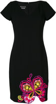 Moschino embroidered butterfly dress - women - Polyester/Acetate - 42