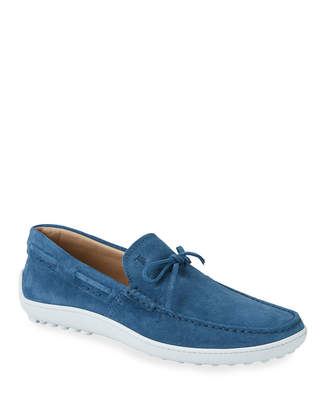 Tod's Men's Pantofola Suede Slip-On Loafers