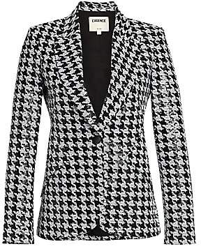 L'Agence Women's Chamberlain Sequined Houndstooth Blazer - Size 0