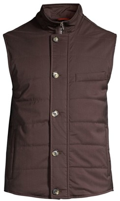 Isaia Quilted Wool Down Vest