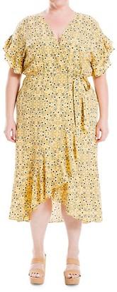 Max Studio Printed High-Low Dress