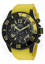 Invicta Men's 13732 Pro Diver Chronograph Carbon Fiber Dial Yellow Polyurethane Watch