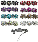 B.ella 8-Pack - 8 Barrettes with French Clip Clasp and Sparkling Stones U86250-1338-8
