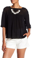 Catherine Malandrino Mixed Media Blouse