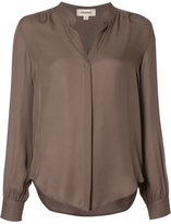 L'Agence band collar shirt - women - Silk - XS