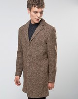 Selected Overcoat In Boucle In Camel