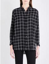 Izzue Check-print woven shirt