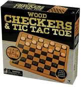 Cardinal Checkers and Tic Tac Toe Board Game