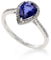 Effy 14K White Gold Diamond Natural Diffused Ceylon Sapphire Ring