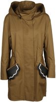 Fendi Scalloped Pocket Parka