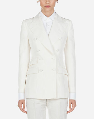 Dolce & Gabbana Double-Breasted Moire Jacket