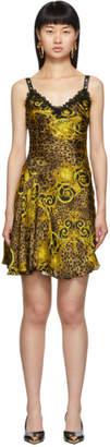 Versace Gold Leopard Baroque Dress