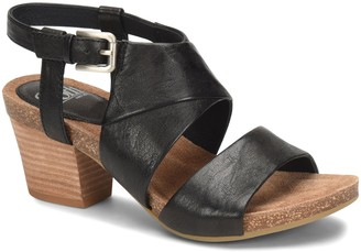 Sofft Leather Chunky-Heel Sandals - Melina